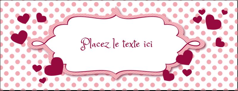 """1-7/16"""" x 3¾"""" Affichette - Bulles de Saint-Valentin"""