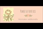 Dessin floral Affichette - gabarit prédéfini. <br/>Utilisez notre logiciel Avery Design & Print Online pour personnaliser facilement la conception.
