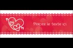Dessin de la Saint-Valentin Affichette - gabarit prédéfini. <br/>Utilisez notre logiciel Avery Design & Print Online pour personnaliser facilement la conception.