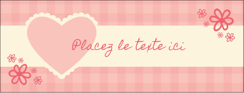 """1-7/16"""" x 3¾"""" Affichette - Guingan de la Saint-Valentin"""