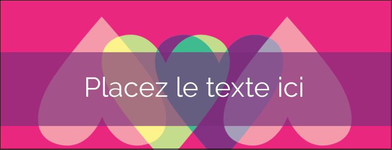"""1-7/16"""" x 3¾"""" Affichette - Rang de cœurs de la Saint-Valentin"""