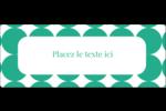 Cercles vert sarcelle Étiquettes D'Adresse - gabarit prédéfini. <br/>Utilisez notre logiciel Avery Design & Print Online pour personnaliser facilement la conception.