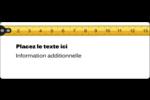 Ruban à mesurer Étiquettes D'Adresse - gabarit prédéfini. <br/>Utilisez notre logiciel Avery Design & Print Online pour personnaliser facilement la conception.