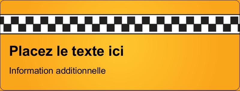 """½"""" x 1¾"""" Étiquettes D'Adresse - Échiquier taxi"""