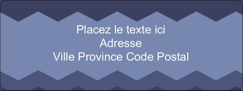 """⅔"""" x 1¾"""" Étiquettes D'Adresse - Chevron bleu"""