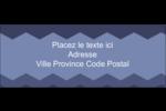 Chevron bleu Étiquettes D'Adresse - gabarit prédéfini. <br/>Utilisez notre logiciel Avery Design & Print Online pour personnaliser facilement la conception.