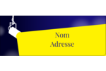 Projecteur sur fond bleu Étiquettes D'Adresse - gabarit prédéfini. <br/>Utilisez notre logiciel Avery Design & Print Online pour personnaliser facilement la conception.