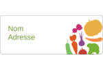 Panier de légumes Étiquettes D'Adresse - gabarit prédéfini. <br/>Utilisez notre logiciel Avery Design & Print Online pour personnaliser facilement la conception.