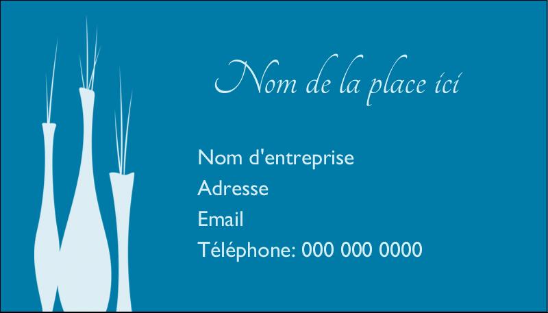 """2"""" x 3½"""" Carte d'affaire - Vase design d'intérieur"""