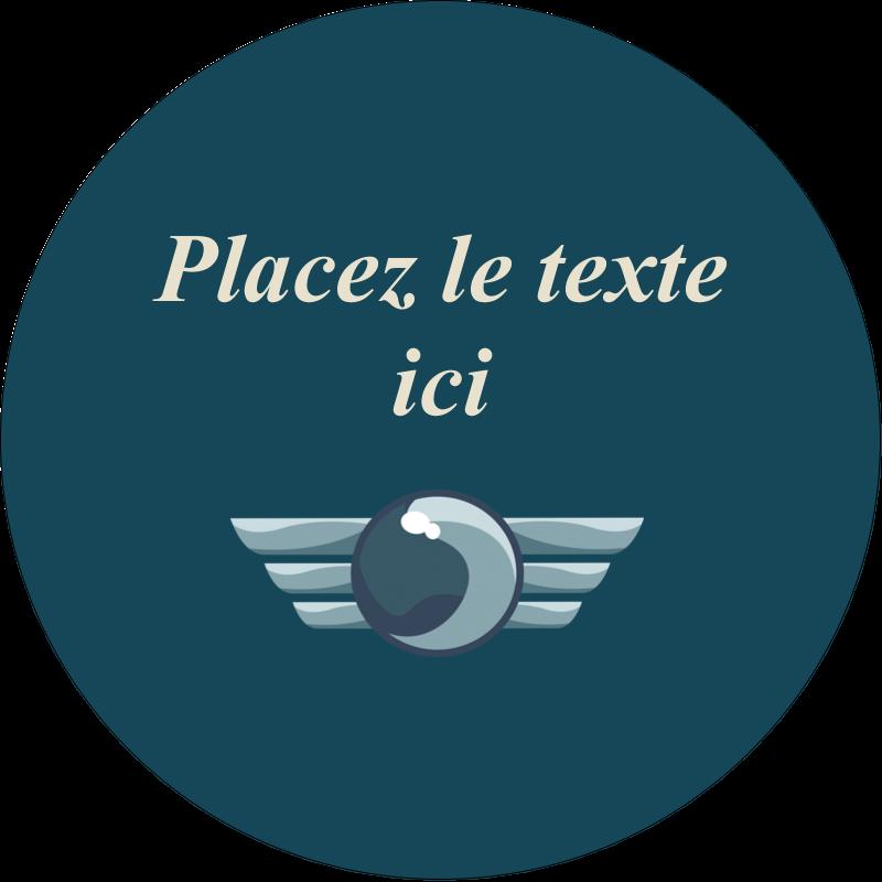 """3"""" Diameter Étiquettes rondes - Ailes de limousine"""
