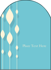 "4¾"" x 3½"" Arched Label - Blue Bead Curtain"
