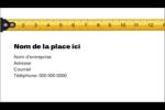 Ruban à mesurer Carte d'affaire - gabarit prédéfini. <br/>Utilisez notre logiciel Avery Design & Print Online pour personnaliser facilement la conception.