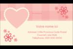 Guingan de la Saint-Valentin Carte d'affaire - gabarit prédéfini. <br/>Utilisez notre logiciel Avery Design & Print Online pour personnaliser facilement la conception.