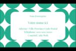 Cercles vert sarcelle Carte d'affaire - gabarit prédéfini. <br/>Utilisez notre logiciel Avery Design & Print Online pour personnaliser facilement la conception.