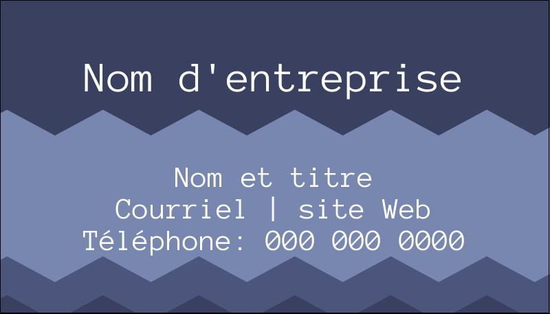 """2"""" x 3½"""" Carte d'affaire - Chevron bleu"""