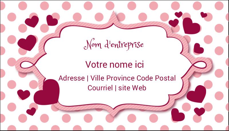"""2"""" x 3½"""" Carte d'affaire - Bulles de Saint-Valentin"""
