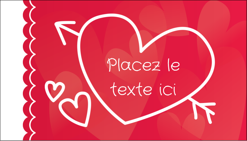 """2"""" x 3½"""" Carte d'affaire - Dessin de la Saint-Valentin"""