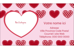 Cœur de Saint-Valentin Carte d'affaire - gabarit prédéfini. <br/>Utilisez notre logiciel Avery Design & Print Online pour personnaliser facilement la conception.