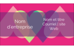 Rang de cœurs de la Saint-Valentin Carte d'affaire - gabarit prédéfini. <br/>Utilisez notre logiciel Avery Design & Print Online pour personnaliser facilement la conception.