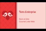 Oiseaux amoureux Carte d'affaire - gabarit prédéfini. <br/>Utilisez notre logiciel Avery Design & Print Online pour personnaliser facilement la conception.