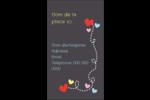 Saint-Valentin sur fond noir Carte d'affaire - gabarit prédéfini. <br/>Utilisez notre logiciel Avery Design & Print Online pour personnaliser facilement la conception.