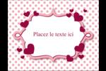 Bulles de Saint-Valentin Carte Postale - gabarit prédéfini. <br/>Utilisez notre logiciel Avery Design & Print Online pour personnaliser facilement la conception.