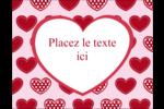 Cœur de Saint-Valentin Carte Postale - gabarit prédéfini. <br/>Utilisez notre logiciel Avery Design & Print Online pour personnaliser facilement la conception.