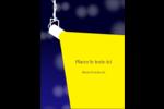 Projecteur sur fond bleu Carte Postale - gabarit prédéfini. <br/>Utilisez notre logiciel Avery Design & Print Online pour personnaliser facilement la conception.