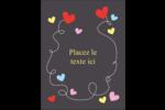 Saint-Valentin sur fond noir Carte Postale - gabarit prédéfini. <br/>Utilisez notre logiciel Avery Design & Print Online pour personnaliser facilement la conception.