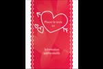 Dessin de la Saint-Valentin Carte Postale - gabarit prédéfini. <br/>Utilisez notre logiciel Avery Design & Print Online pour personnaliser facilement la conception.