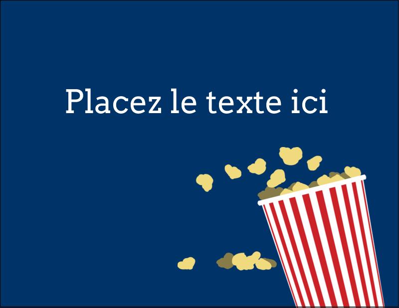 "4¼"" X 5½"" Carte Postale - Popcorn et film"