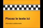 Échiquier taxi Carte Postale - gabarit prédéfini. <br/>Utilisez notre logiciel Avery Design & Print Online pour personnaliser facilement la conception.