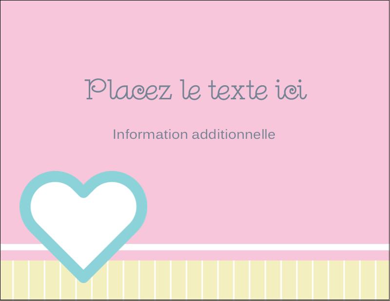 "4¼"" X 5½"" Carte Postale - Cœur bleu"