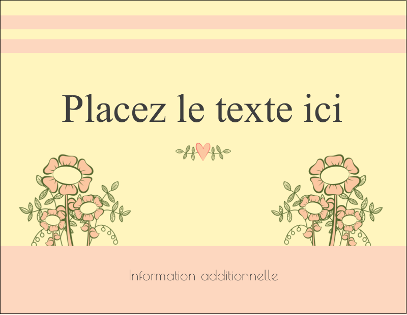 "4¼"" X 5½"" Carte Postale - Dessin floral"