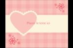 Guingan de la Saint-Valentin Carte Postale - gabarit prédéfini. <br/>Utilisez notre logiciel Avery Design & Print Online pour personnaliser facilement la conception.
