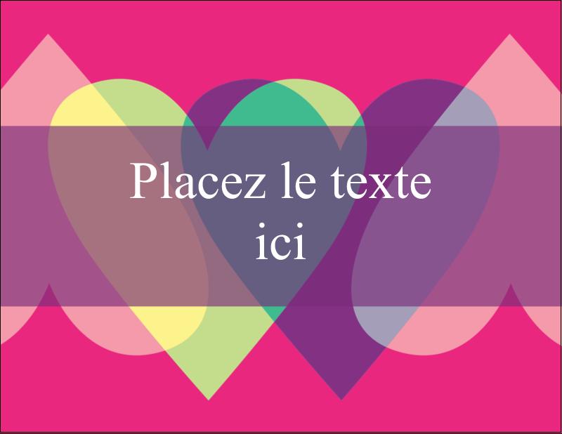"""4¼"""" X 5½"""" Carte Postale - Rang de cœurs de la Saint-Valentin"""