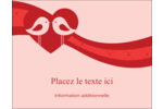 Oiseaux amoureux Carte Postale - gabarit prédéfini. <br/>Utilisez notre logiciel Avery Design & Print Online pour personnaliser facilement la conception.