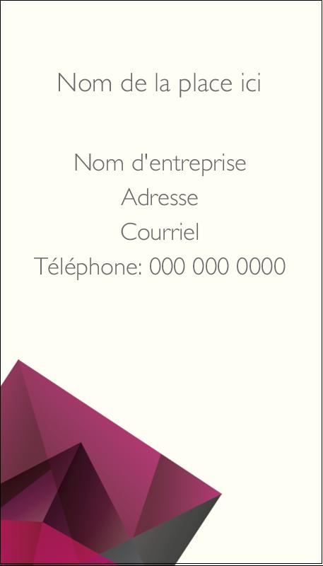 """3½"""" x 2"""" Carte d'affaire - Pierres de rubis"""