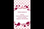 Bulles de Saint-Valentin Carte d'affaire - gabarit prédéfini. <br/>Utilisez notre logiciel Avery Design & Print Online pour personnaliser facilement la conception.