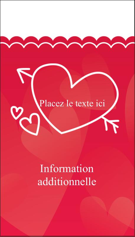 """3½"""" x 2"""" Carte d'affaire - Dessin de la Saint-Valentin"""