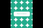 Cercles vert sarcelle Carte Postale - gabarit prédéfini. <br/>Utilisez notre logiciel Avery Design & Print Online pour personnaliser facilement la conception.