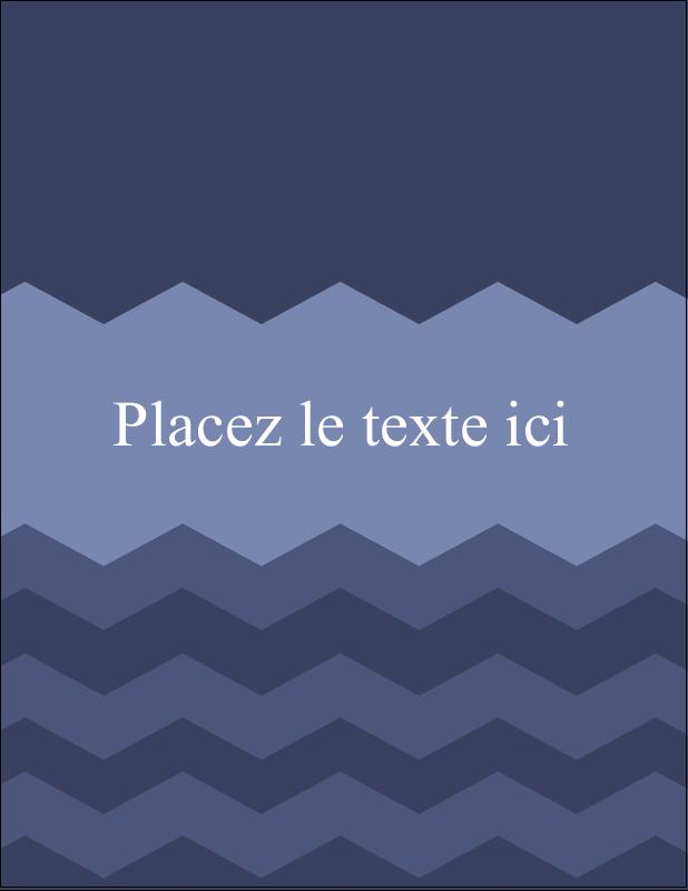 """5½"""" x 4¼"""" Carte Postale - Chevron bleu"""