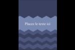 Chevron bleu Carte Postale - gabarit prédéfini. <br/>Utilisez notre logiciel Avery Design & Print Online pour personnaliser facilement la conception.