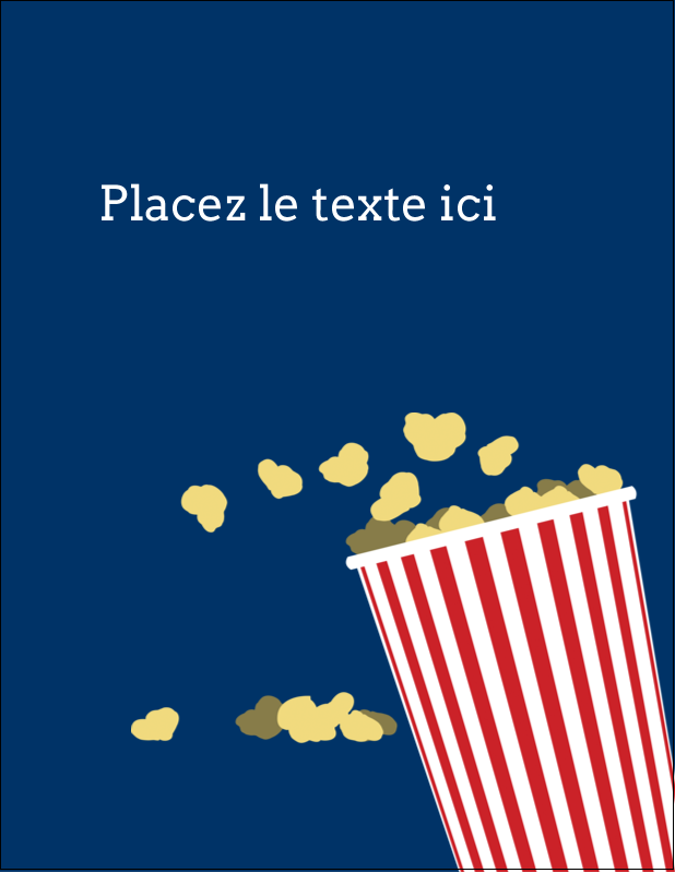 "5½"" x 4¼"" Carte Postale - Popcorn et film"
