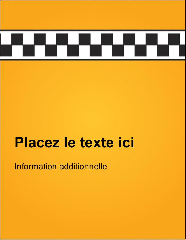 """5½"""" x 4¼"""" Carte Postale - Échiquier taxi"""
