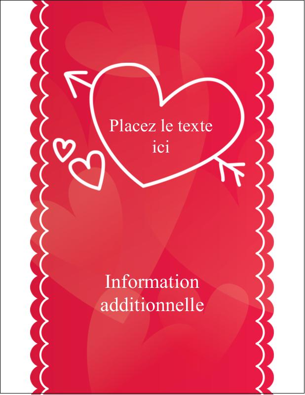 "5½"" x 4¼"" Carte Postale - Dessin de la Saint-Valentin"