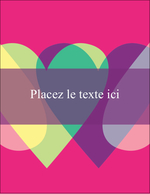 """5½"""" x 4¼"""" Carte Postale - Rang de cœurs de la Saint-Valentin"""