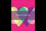 Rang de cœurs de la Saint-Valentin Carte Postale - gabarit prédéfini. <br/>Utilisez notre logiciel Avery Design & Print Online pour personnaliser facilement la conception.