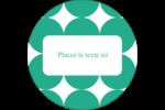 Cercles vert sarcelle Étiquettes rondes - gabarit prédéfini. <br/>Utilisez notre logiciel Avery Design & Print Online pour personnaliser facilement la conception.