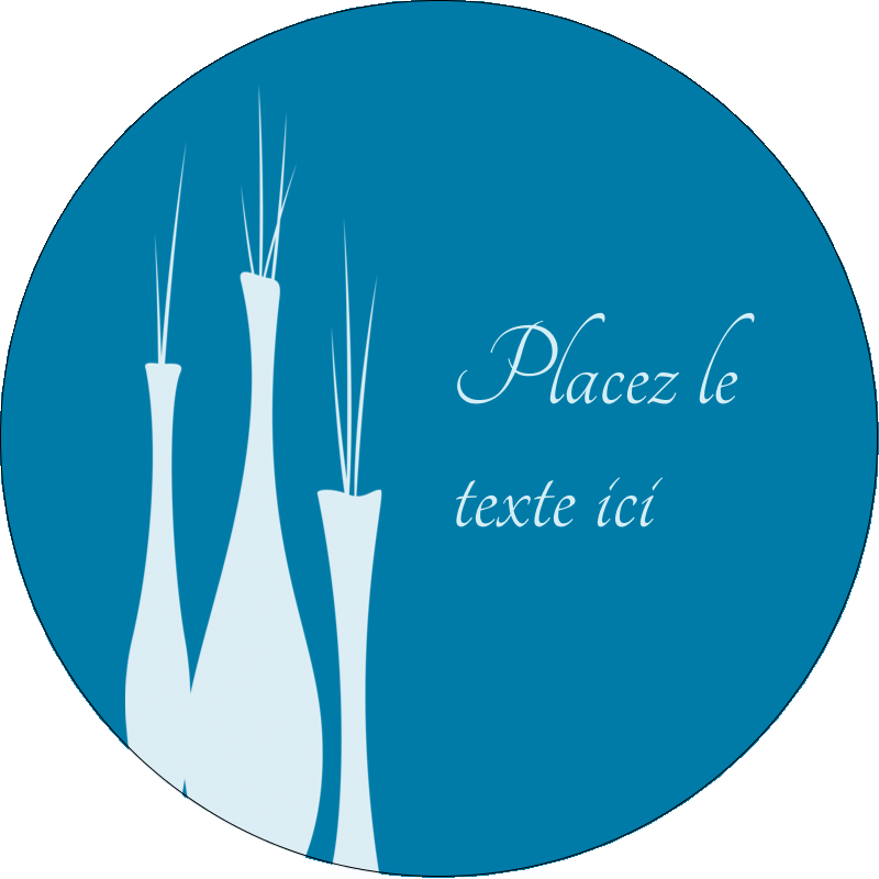 """3"""" Diameter Étiquettes rondes - Vase design d'intérieur"""